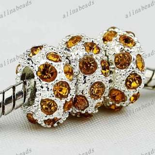11*11*6 mm 50PCS GOLD CRYSTAL SPACER FINDINGS CHARM BEADS