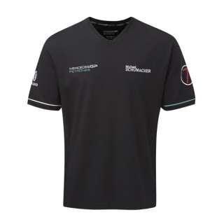 Mercedes GP Petronas F1 Michael Schumacher T Shirt Black Henri Lloyd