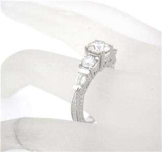48CT ROUND CUT DIAMOND ENGAGEMENT RING ANTIQUE STYLE