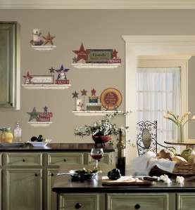 Family & Friends Wall Decals Country Stars Stickers 034878677590