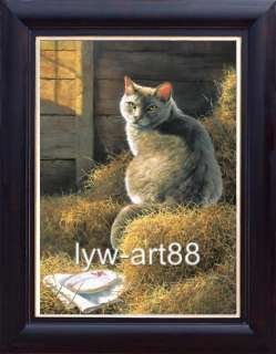 ORIGINAL ANIMAL ART OIL PAINTING PORTRAIT Persian Cat