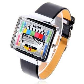 New TV Pattern Dial Watch Fashion Quartz Watch For Lady Men Women