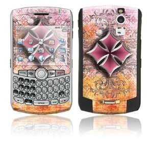 Pink Cross Design Protective Skin Decal Sticker for Blackberry Curve