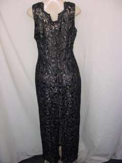 Womens Formal Cocktail Black/Gold Dress. Size L/Large Parties