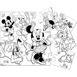 Minnie Mouse Birthday Party Game Activity Jumbo Coloring Floor Puzzle
