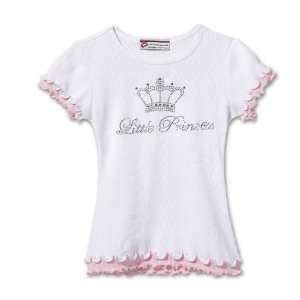 Little Princess Crown Ruffle Tee Shirt   6X Toys & Games