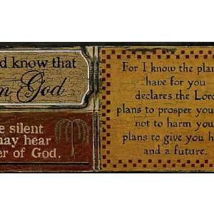 Religious Phrases Wallpaper Border: Home Improvement