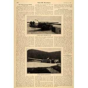 Inch Rapid Fire Coastal Guns   Original Print Article