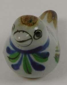 Ken Edwards El Palomar Pottery Tonala Blue Green BIRD Figure