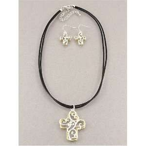Fashion Jewelry Desinger Inspired Metal Silver Gold Cross Necklace and