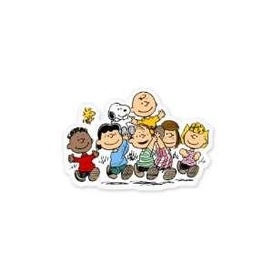 Peanuts Gang snoopy sticker 5 x 3