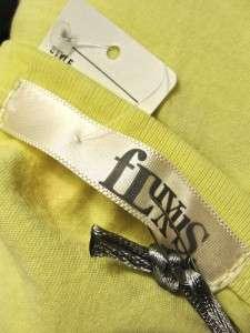 NWT womens yellow FLUXUS tunic tank top shirt dress M