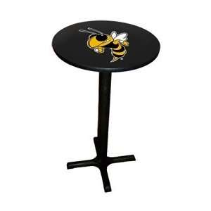 Georgia Tech Yellow Jackets Black Base Game Room Table