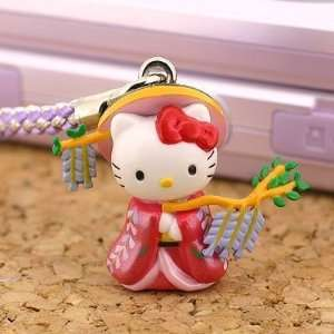 Sanrio Hello Kitty Legendary Kabuki Heroine Netsuke Cell Phone