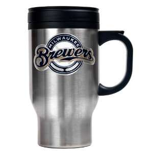 Milwaukee Brewers 16oz. Stainless Steel MLB Team Logo
