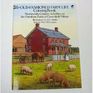 OLD Fashioned FARM Life Coloring Book 44 pages Toys