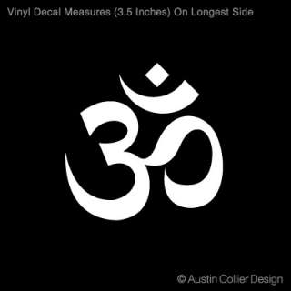 OM SYMBOL Vinyl Decal Car Sticker   Aum Yoga Peace