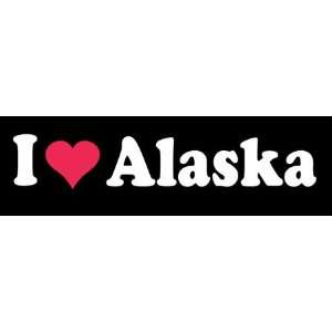 8 I Love Heart Alaska State Vinyl Decal Sticker