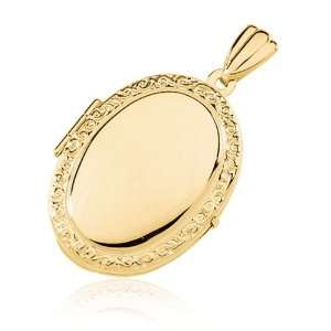 Oval Shaped Locket, 14 Karat Gold Jewelry