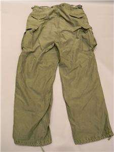ORIGINAL VIETNAM WAR US ARMY OD COTTON FIELD PANTS EX LARGE 40PLUS 36