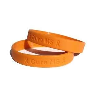 Cure MS Orange Rubber Bracelet Wristband   Youth 7