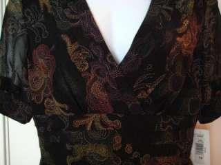 PETER NYGARD BLACK MULTI DRESS NWT $178