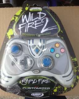 Xbox 360 Wireless Cordless Wild Fire 2 Rapid White Controller gamepad