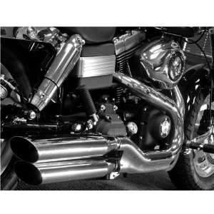 Oval Mufflers for 2008 2011 Harley Davidson FXDF Fat Bob Motorcycles