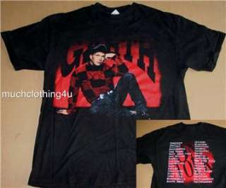 vtg GARTH brooks CONCERT tour 90s shirt IN pieces RED black COUNTRY