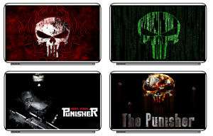 The Punisher Laptop Notebook Sticker Skin Decal Cover