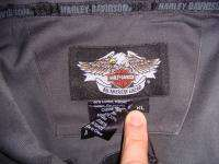 Harley Davidson Motorcylces Button Front Short Sleeve Garage Biker
