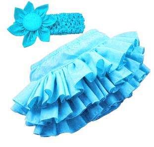 Girl Baby Ruffle Pants 0 24M Bloomers Nappy Cover Skirt+Headband Free