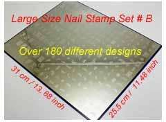 Large 221 designs Nail Art Stamp Plate French set B