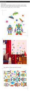 New Robot Nursery Kid Wall Decor Decal Sticker PS065