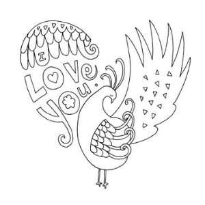 Bright Heart Wood Mounted Stamp (Penny Black)