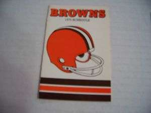 1975 NFL Cleveland Browns Football Pocket Schedule