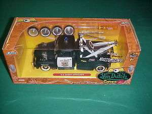 Jada 1/24 Von Dutch tow truck wrecker black