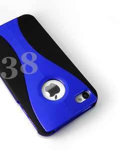 NEW BLUE 3 PIECE HARD CASE COVER FOR IPHONE 4G 4S