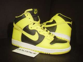 2003 Nike Dunk High BLACK GOLDENROD YELLOW WHITE 6.5 5