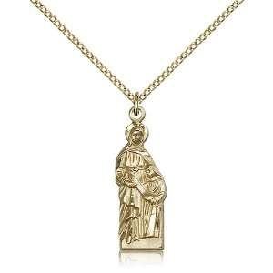 Gold Filled St. Ann Pendant Jewelry