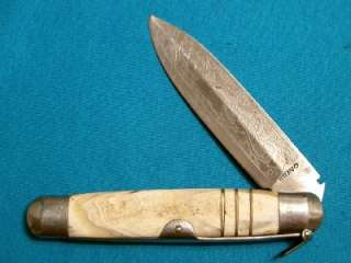 BIG ANTIQUE BRAVO SPANISH HORN NAVAJA LOCKBACK FOLDING DIRK DAGGER