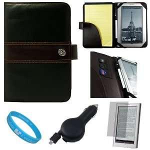 Brown Premium Executive Leather Protective Book Style Portfolio