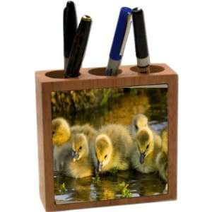 Rikki KnightTM Four Yellow Ducklings in Pond 5 Inch Tile