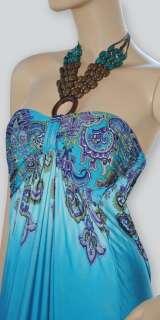 NEW SEXY WOMEN HIPPIE HALTER BEACH SUMMER LONG MAXI DRESS M/L