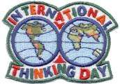Girl INTERNATIONAL THINKING DAY Patches SCOUT/GUIDE