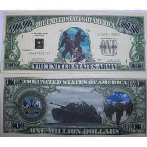 Set of 10 Bills US Army Million Dollar Bill Toys & Games
