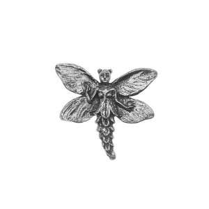 Green Girl Studios Pewter Fairy Button Pendant Bead (1