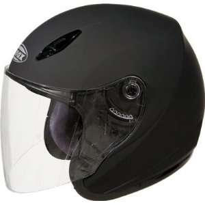 GM17 SPC Open Face Motorcycle/Scooter Helmet Black Small Automotive