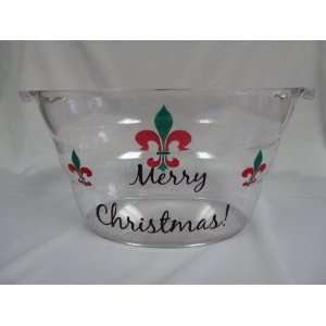 Custom Merry Christmas Beverage Tub