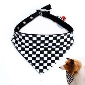 Checks Pet Dog Bandana Collar Scarf Neckerchief   M